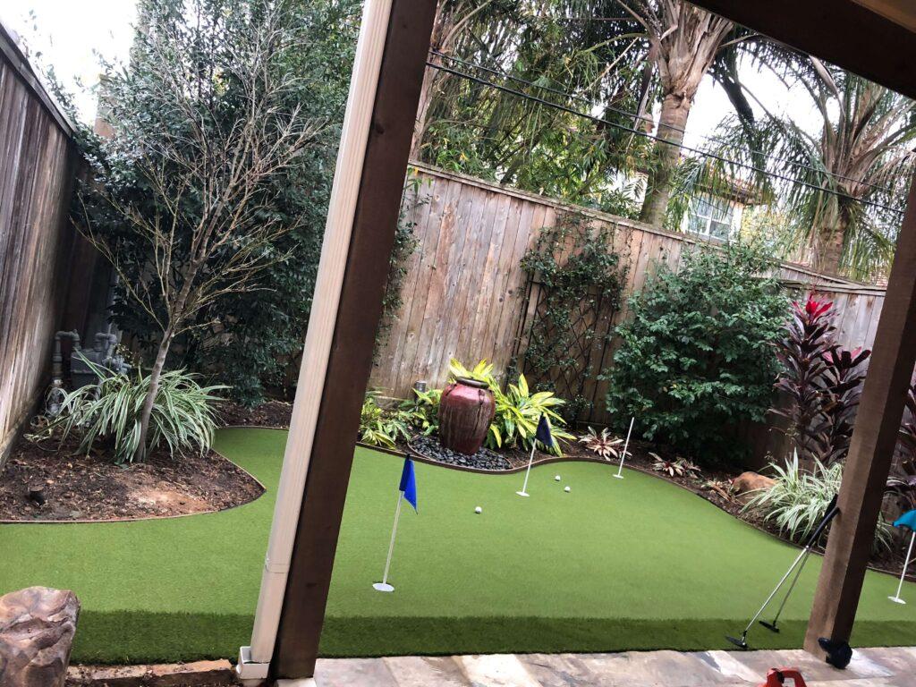 backyard artificial putting green