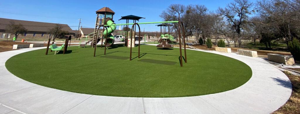 playground on artificial turf