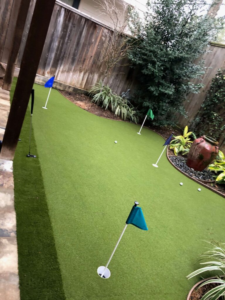residential artificial putting green