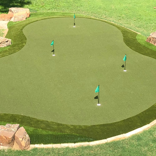 SYNLawn Golf Course with green flags