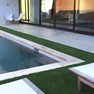 Synlawn residential artificial turf yard