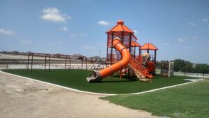 playground built on artificial turf